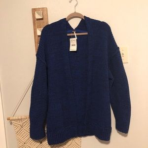 New Free People Forever Blue High Hopes Cardigan